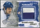 2012/13 ITG Forever Rivals #M24 Rick Vaive Gold Game Used Jersey /10