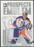2004/05 ITG Heroes and Prospects #18 Devan Dubnyk Rookie Silver Emblem /30