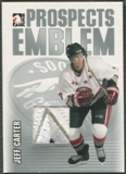 2004/05 ITG Heroes and Prospects #4 Jeff Carter Rookie Silver Emblem /30