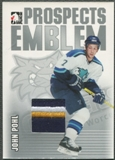 2004/05 ITG Heroes and Prospects #28 John Pohl Rookie Silver Emblem /30