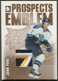 2004/05 ITG Heroes and Prospects #28 John Pohl Rookie Gold Emblem /10