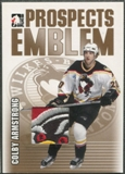 2004/05 ITG Heroes and Prospects #7 Colby Armstrong Rookie Gold Emblem /10