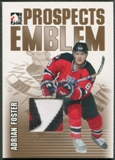 2004/05 ITG Heroes and Prospects #8 Adrian Foster Rookie Gold Emblem /10
