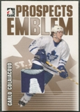 2004/05 ITG Heroes and Prospects #26 Carlo Colaiacovo Rookie Gold Emblem /10