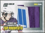 2009/10 ITG Heroes and Prospects #JM08 Corey Perry Top Prospects Jumbo Emblem Black /6