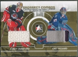 2008/09 Between The Pipes #PC10 Corey Crawford & Chet Pickard Prospect Combos Gold Patch /10