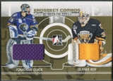2008/09 Between The Pipes #PC09 Jonathan Quick & Olivier Roy Prospect Combos Gold Patch /10