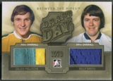 2012/13 Between The Pipes #DD20 Gilles Meloche & Billy Smith Draft Day Gold Jersey /10