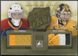2012/13 Between The Pipes #DD03 Oscar Dansk & Brandon Whitney Draft Day Gold Jersey /10