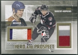 2010/11 ITG Heroes and Prospects #HP12 Ryan Nugent-Hopkins & Mark Messier Hero and Prospect Gold Jersey #05/10
