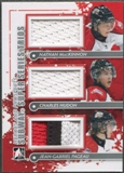 2011/12 ITG Heroes and Prospects #SST02 Nathan MacKinnon Charles Hudon Jean-Gabriel Pageau Silver Jersey /70