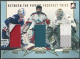 2006/07 Between The Pipes #PT09 Carey Price Kristofer Westblom Leland Irving Prospect Trios Gold Jersey /10