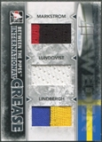 2009/10 Between The Pipes Markstrom Henrik Lundqvist Pelle Lindbergh International Crease Black Jersey /60