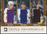2007/08 ITG Heroes and Prospects #TM06 Eric Staal Marc Staal Jordan Staal Silver Jersey /20