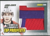 2009/10 ITG Heroes and Prospects #JM11 Evander Kane Top Prospects Game Used Jersey Gold /10