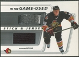 2002/03 ITG Used #SJ48 Marian Hossa Jersey and Stick /75