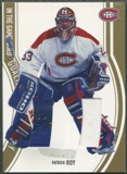 2002/03 ITG Used #GP2 Patrick Roy Gold Goalie Pad and Jersey /10