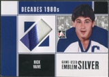 2010/11 ITG Decades 1980s #M56 Rick Vaive Game Used Emblem Silver /3