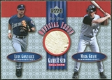 2001 Upper Deck Gold Glove Official Issue Game Ball #OIGG Luis Gonzalez Mark Grace