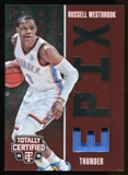 2014-15 Totally Certified EPIX Play Memorabilia Red #25 Russell Westbrook Serial #91/199