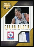 2014-15 Totally Certified Clear Cloth Jerseys Gold #79 Michael Carter-Williams #10/10