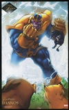2015 Fleer Retro Marvel 1994 Flair Prints #5 Thanos