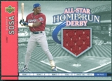 2002 Upper Deck All-Star Home Run Derby Game Jersey #ASSS1 Sammy Sosa