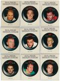 1968/69 O-Pee-Chee Hockey Puck Stickers Complete 22 Card Set (EX-MT)