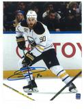 Ryan O'Reilly Autographed Buffalo Sabres White Jersey 8x10 Photo