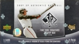 2006 Upper Deck SP Authentic Baseball Hobby Box