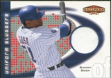 2002 Upper Deck Ballpark Idols Uniform Sluggers Jerseys #SS Sammy Sosa SP /95