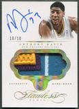 2013/14 Panini Flawless #PAAD Anthony Davis Gold Patch Auto #10/10