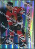 1996/97 Select Certified #27 Chris Chelios Mirror Blue With Coating