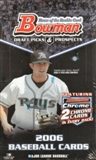 2006 Bowman Draft Picks & Prospects Baseball Hobby Box
