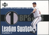 2003 Upper Deck Leading Swatches Jersey #GM Greg Maddux 2.62 ERA