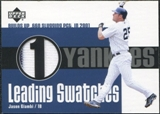2003 Upper Deck Leading Swatches Jersey #JG1 Jason Giambi SLG