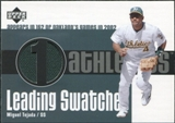 2003 Upper Deck Leading Swatches Jersey #MT1 Miguel Tejada GM SP