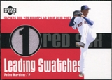 2003 Upper Deck Leading Swatches Jersey #PM Pedro Martinez K