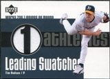 2003 Upper Deck Leading Swatches Jersey #THU Tim Hudson IP