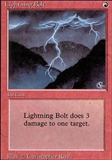 Magic the Gathering 3rd Ed (Revised) Single Lightning Bolt LIGHT PLAY (NM)