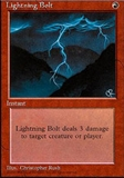Magic the Gathering 4th Edition Single Lightning Bolt LIGHT PLAY (NM)