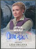 2016 Star Wars The Force Awakens Series Two Carrie Fisher as Leia Organa Gold Auto #07/10