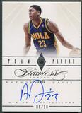 2012/13 Panini Flawless #49 Anthony Davis Team Panini Rookie Auto #06/10
