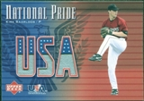 2003 Upper Deck National Pride Memorabilia #KSA Kirk Saarloos Red Jersey