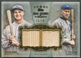 2013 Topps Five Star #FC Jimmie Foxx & Ty Cobb Legends Dual Bat #10/10