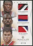 2012/13 Immaculate Collection #44 Nate Robinson Jason Richardson Blake Griffin Patch #07/10