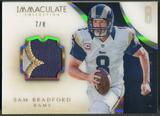 2014 Immaculate Collection #20 Sam Bradford Numbers Patch #7/8