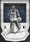 2014/15 Panini Luxe #89 Mark Aguirre Die Cut Gold Auto #10/10
