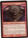 Magic the Gathering Coldsnap Single Karplusan Minotaur FOIL
