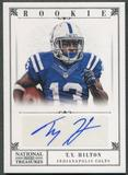 2012 Panini National Treasures #289 T.Y. Hilton Rookie Auto #04/99